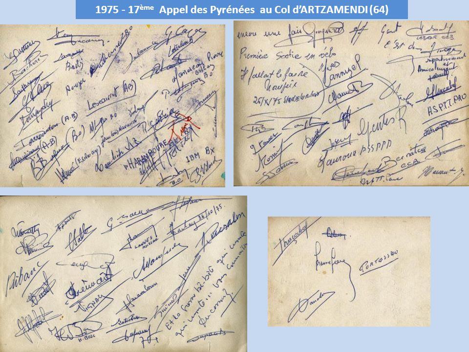 1975 - 17 ème Appel des Pyrénées au Col dARTZAMENDI (64)