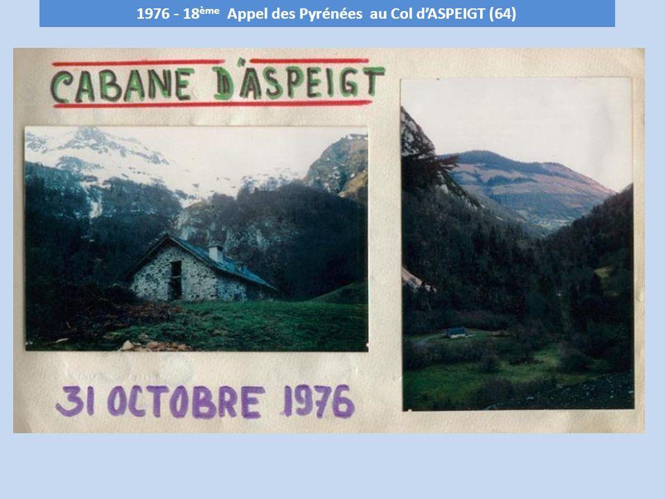 1976 - 18 ème Appel des Pyrénées au Col dASPEIGT (64)