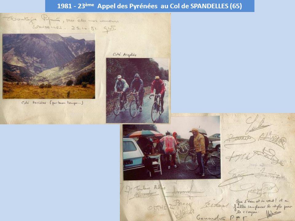 1982 - 24 ème Appel des Pyrénées à LANÇON – 1128 m (31) Club organisateur : C.R.Commingeois le 10 octobre