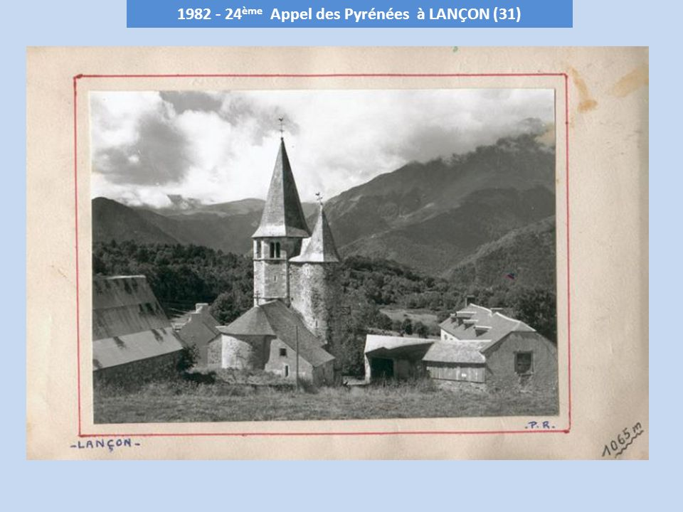 1982 - 24 ème Appel des Pyrénées à LANÇON (31)