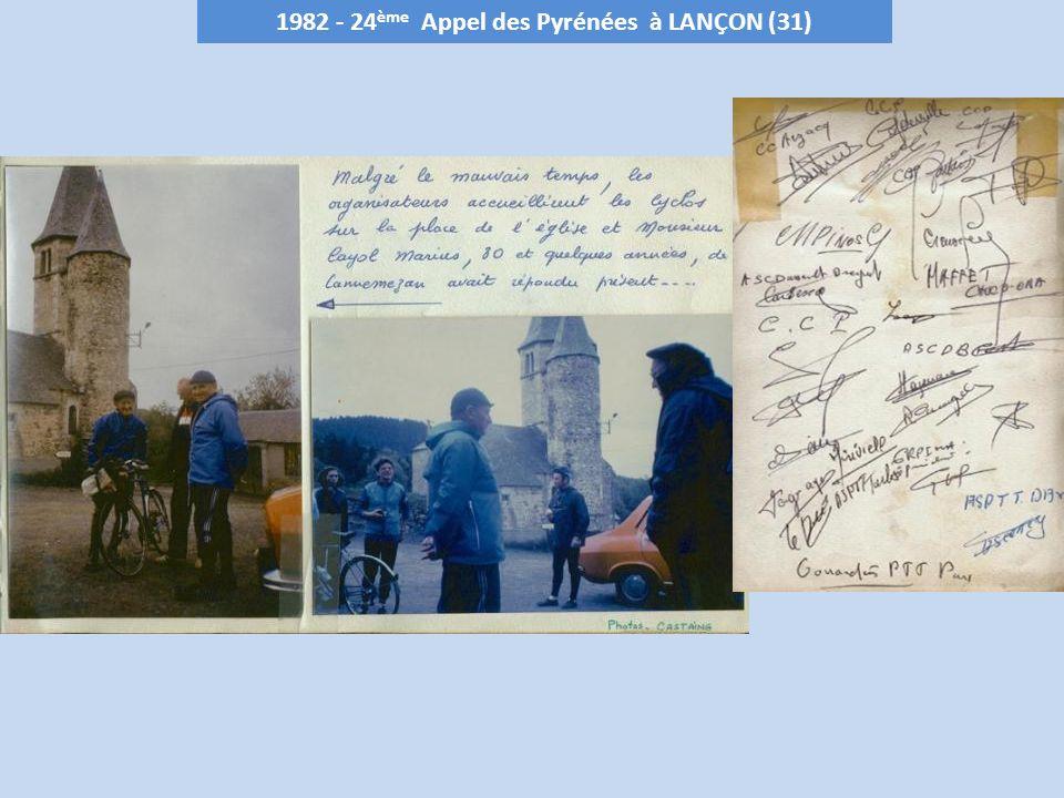 « LAppel des Pyrénées » Souvenir Léon CREUSEFOND « LAppel des Pyrénées » est organisés dans le massifs Pyrénéen, successivement,par les départements de : - Haute Garonne (31) - Pyrénées-Atlantiques (64) – Pays Basque et Béarn lannée suivante - Hautes-Pyrénées (65) En 2009 cette organisation a été Labellisée FFCT Diaporama réalisé à partir de la numérisation des livres dOR « Appel des Pyrénées »commentés lors des différentes Appels des Pyrénées.
