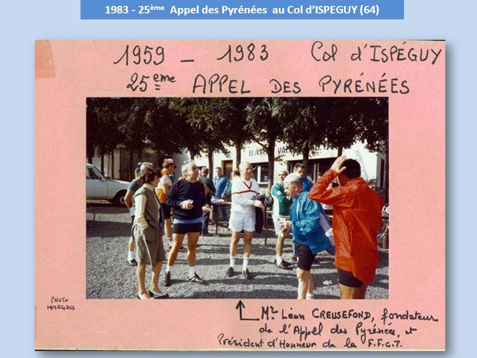 1983 - 25 ème Appel des Pyrénées au Col dISPEGUY (64)
