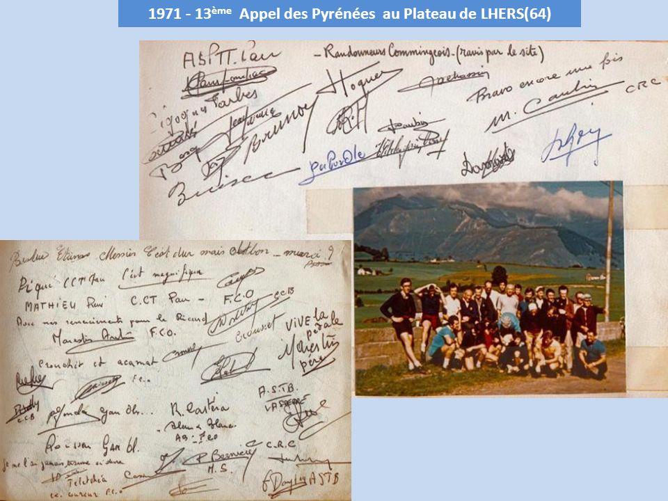 1971 - 13 ème Appel des Pyrénées au Plateau de LHERS(64)