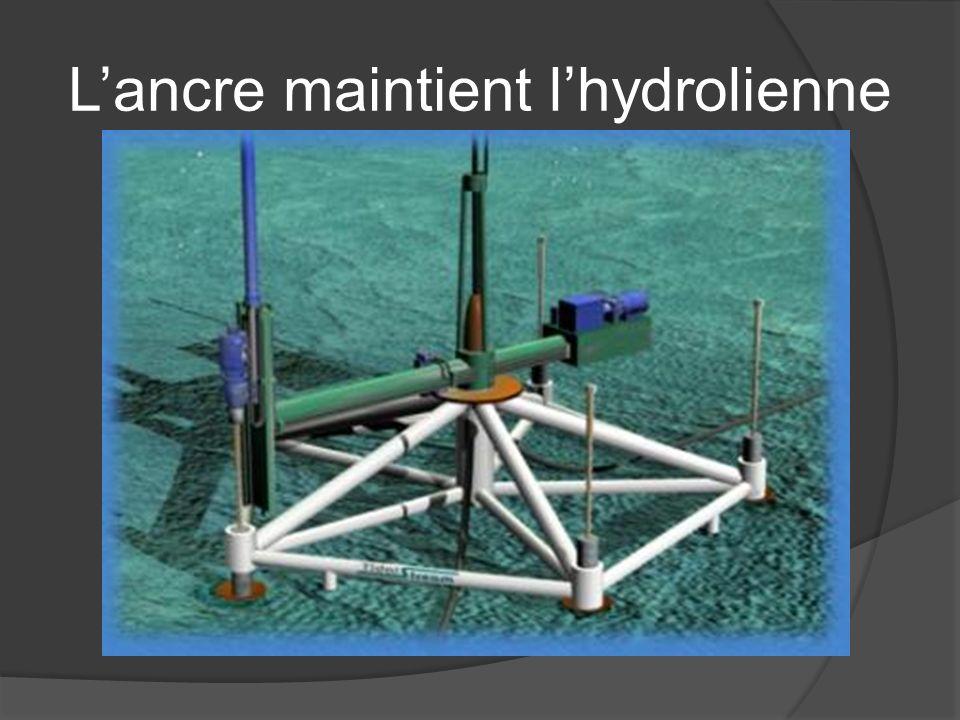 Lancre maintient lhydrolienne