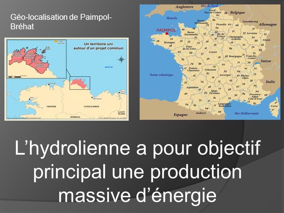 Géo-localisation de Paimpol- Bréhat Lhydrolienne a pour objectif principal une production massive dénergie