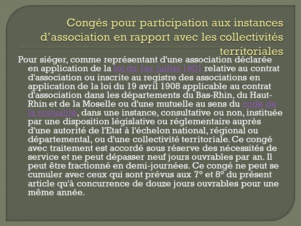 Pour siéger, comme représentant d'une association déclarée en application de la loi du 1er juillet 1901 relative au contrat d'association ou inscrite