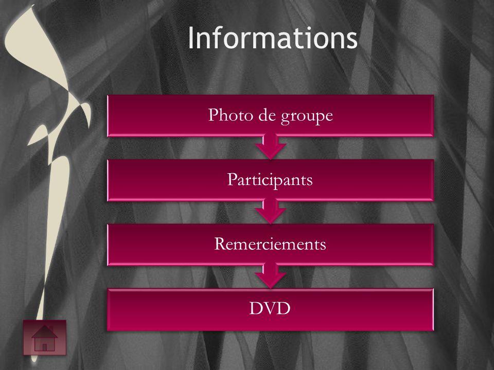 DVD Remerciements Participants Photo de groupe