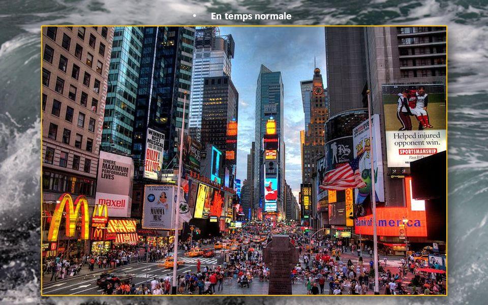 Du jamais vu ! D'ordinaire, Times Square est bondé, c'était désert comme jamais. Touristes et Américains étaient calfeutrés chez eux.