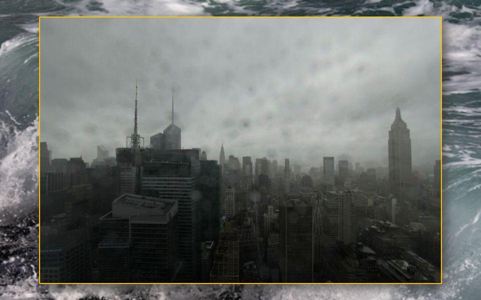Les nuages s'épaississent fortement au-dessus de New York.