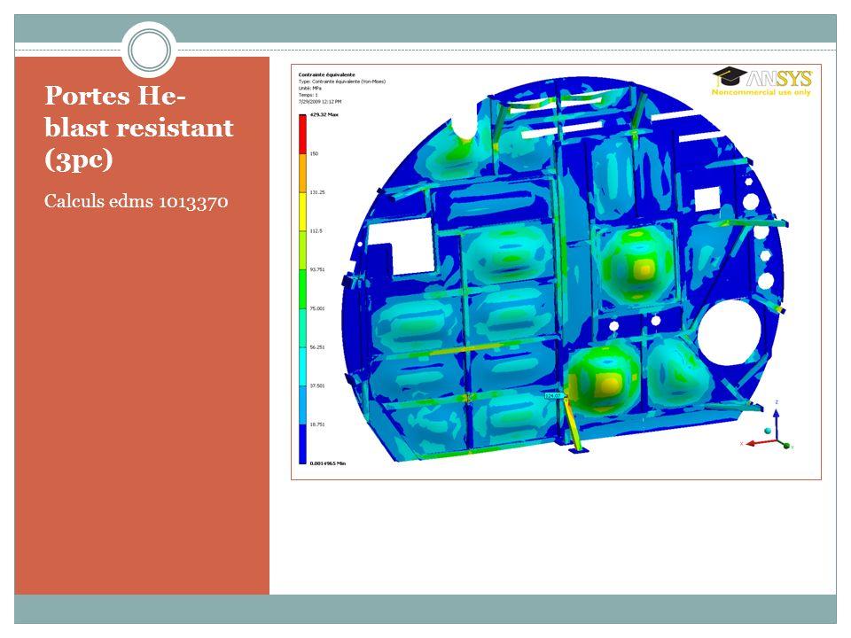 Portes He- blast resistant (3pc) Calculs edms 1013370