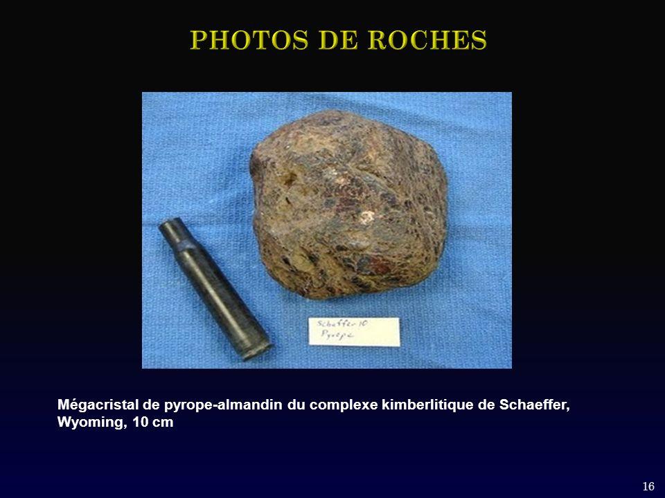 16 Mégacristal de pyrope-almandin du complexe kimberlitique de Schaeffer, Wyoming, 10 cm