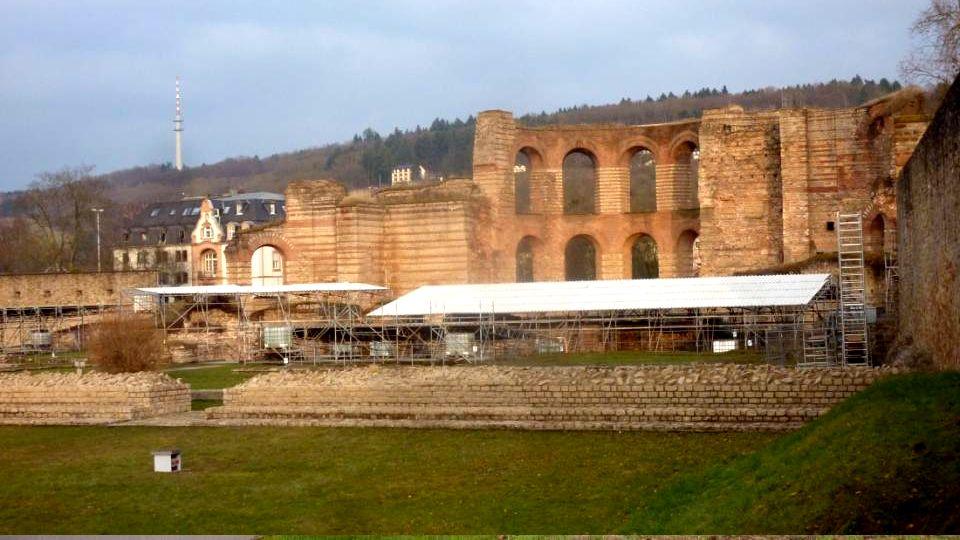 Pont romain au dessus de la Moselle