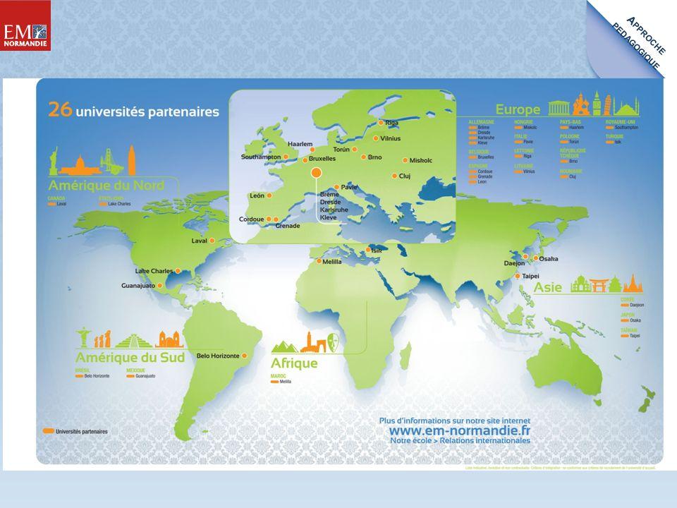 A PPROCHE PEDAGOGIQUE Des rendez-vous annuels incontournables (Forum Entreprises et Carrière) Une proximité des étudiants avec plus de 10 600 entreprises et un Club des Partenaires 5 à 8 mois de stage obligatoires en France ou à létranger PROFESSIONNALISATION