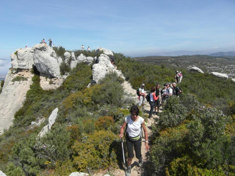 Nos groupes ont fusionné pour cette randonnée vers le Cap Canaille