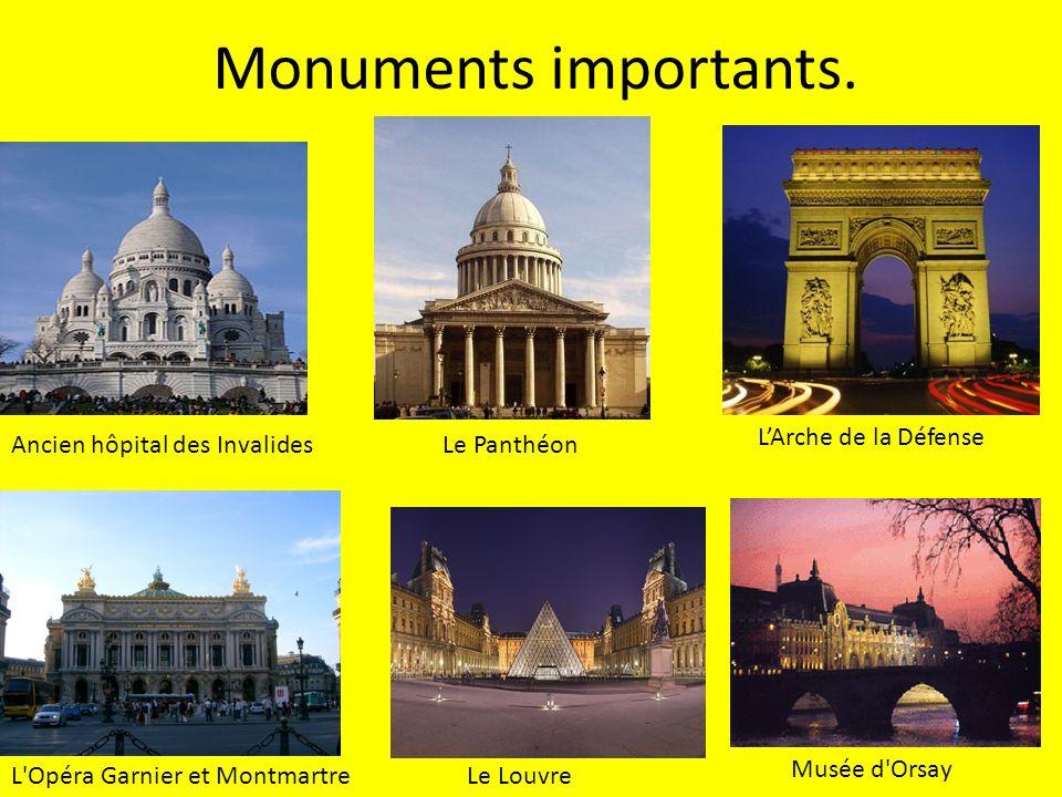 Monuments importants.