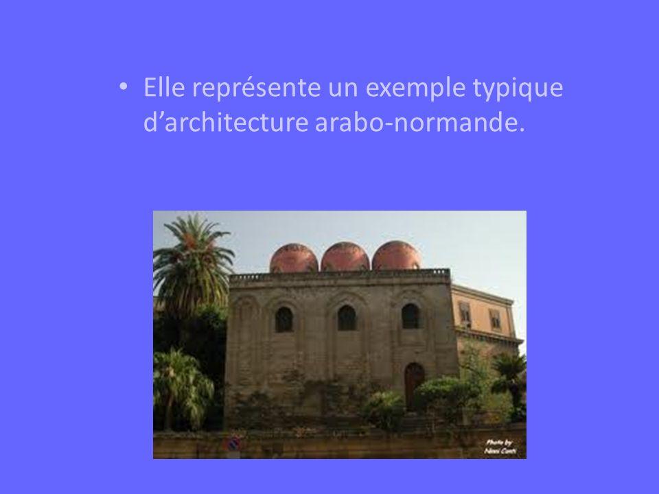 Elle représente un exemple typique darchitecture arabo-normande.