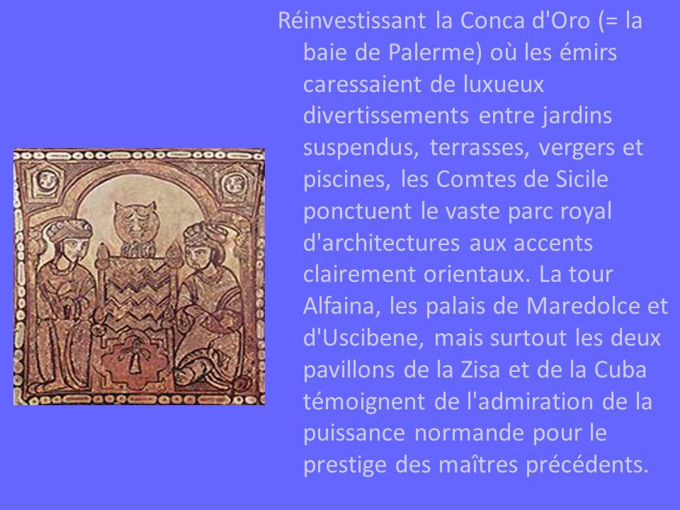 En 1215, Frédéric II avait fait transporter les deux sarcophages de la cathédrale de Cefalù à celle de Palerme.