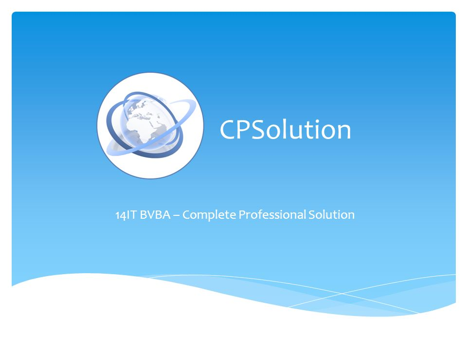 CPSolution 14IT BVBA – Complete Professional Solution