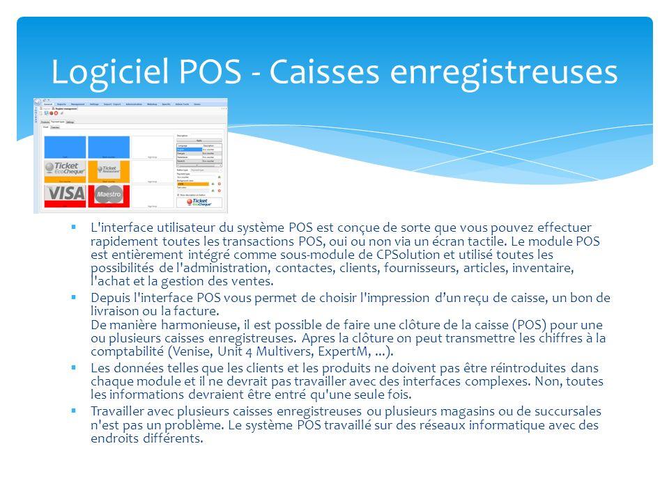 L'interface utilisateur du système POS est conçue de sorte que vous pouvez effectuer rapidement toutes les transactions POS, oui ou non via un écran t