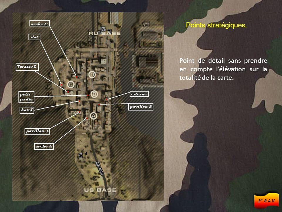 Points stratégiques. Point de détail sans prendre en compte lélévation sur la totalité de la carte. 1 er R.A.V