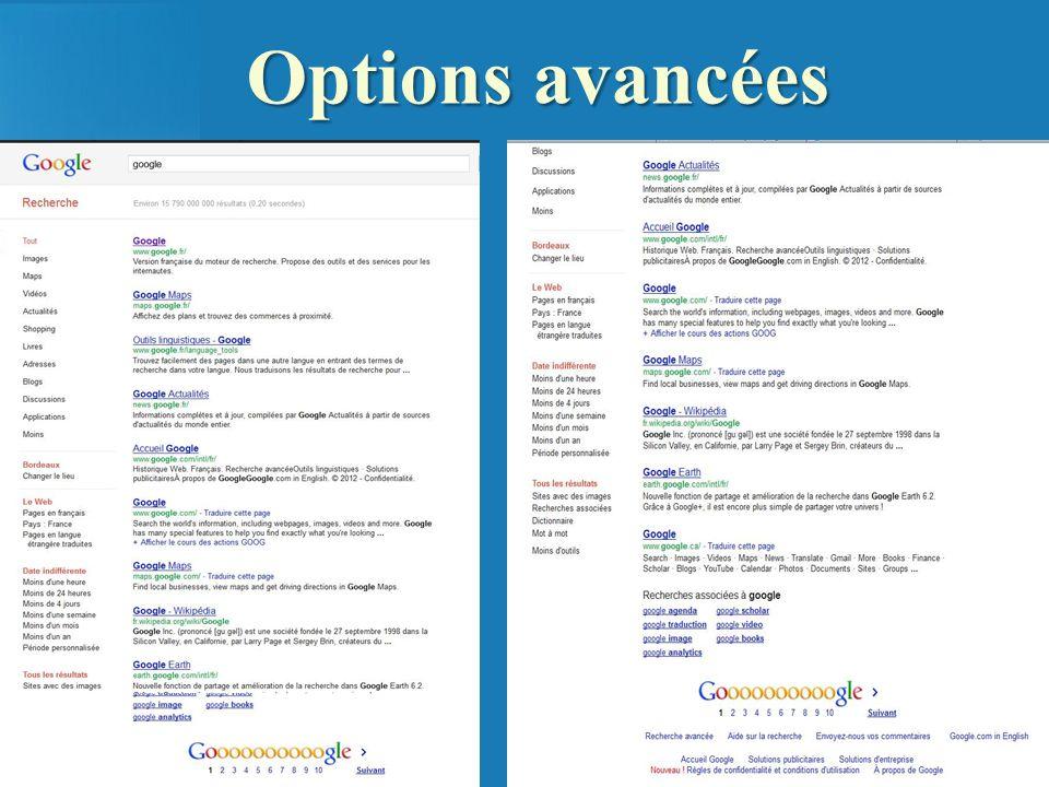 Options avancées 110