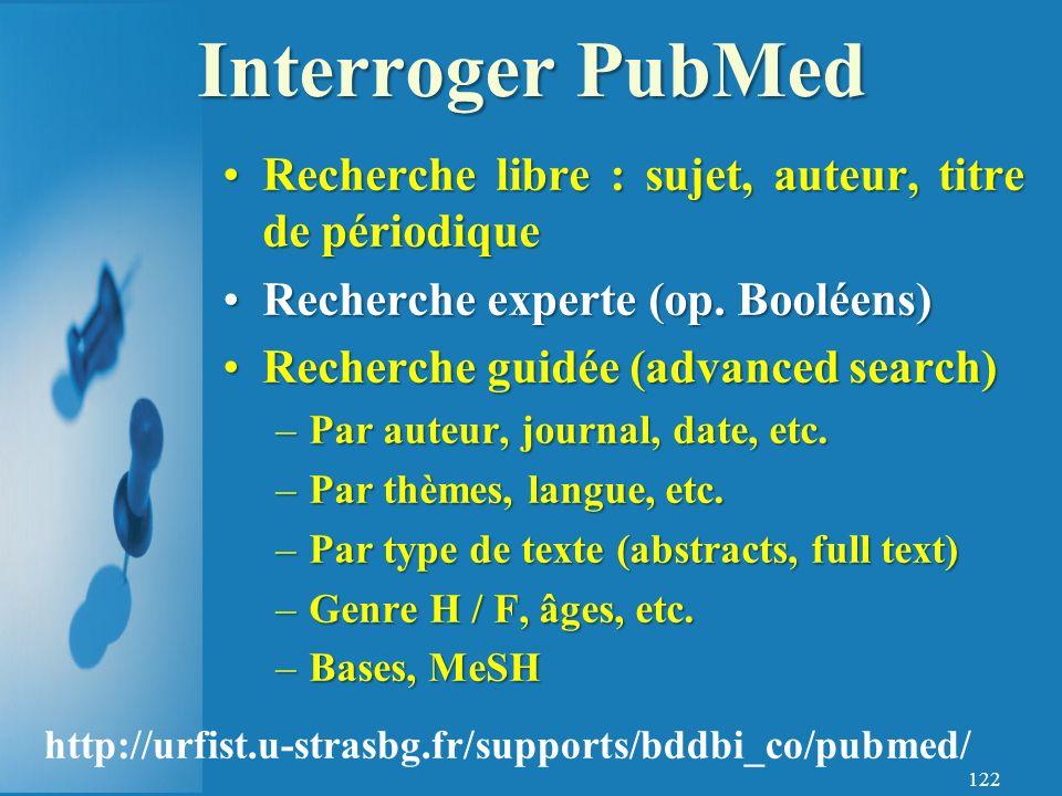 122 Recherche libre : sujet, auteur, titre de périodiqueRecherche libre : sujet, auteur, titre de périodique Recherche experte (op.