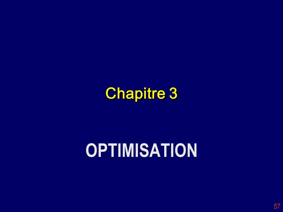 57 Chapitre 3 OPTIMISATION