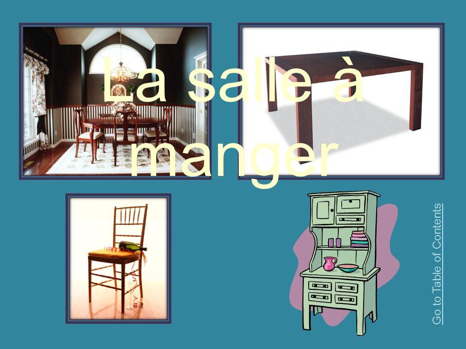 La salle à manger Go to Table of Contents