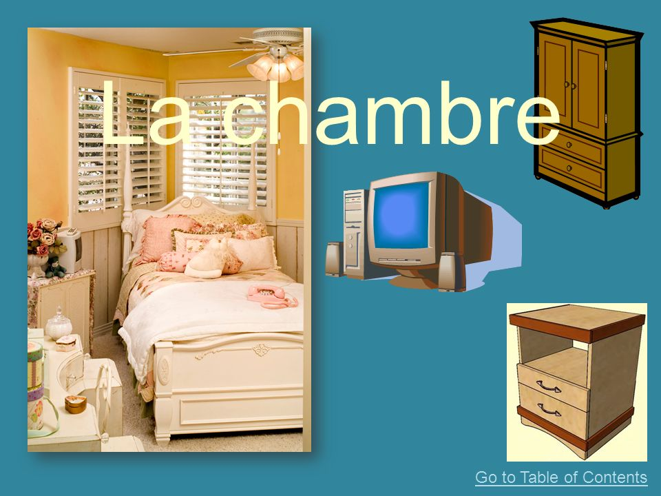 La chambre Go to Table of Contents