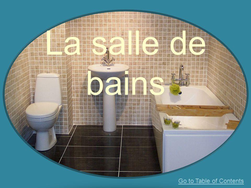 La salle de bains Go to Table of Contents