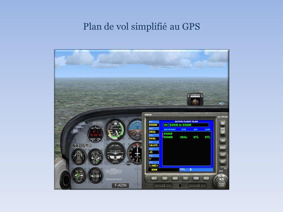 Plan de vol simplifié au GPS
