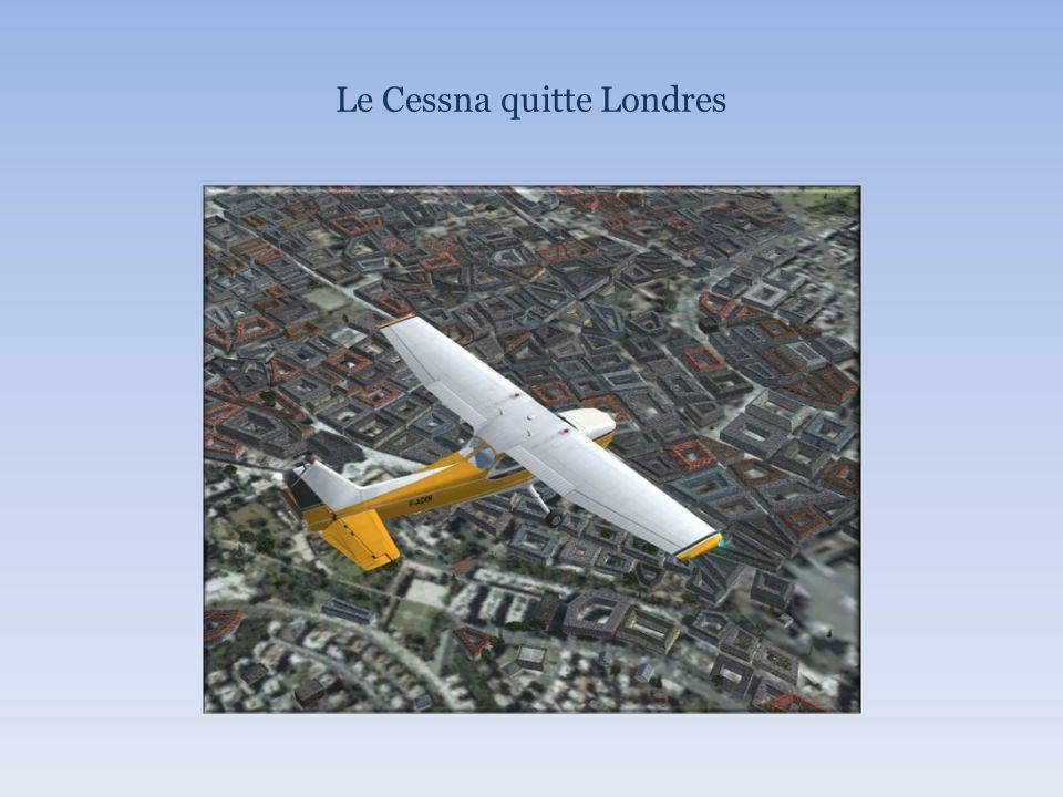 Le Cessna quitte Londres