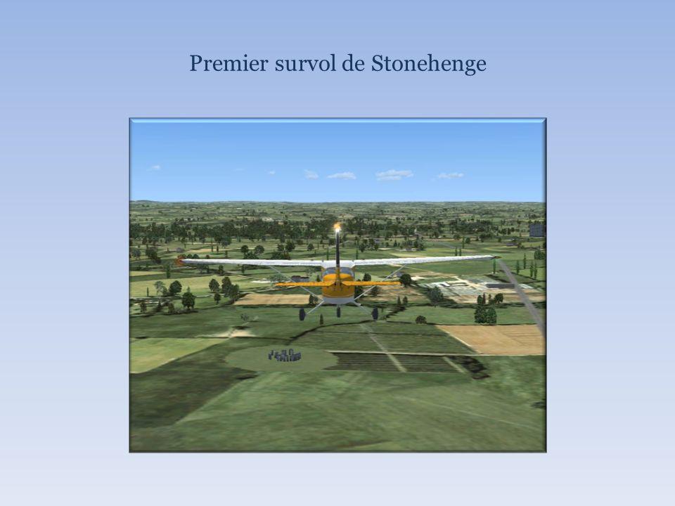 Premier survol de Stonehenge