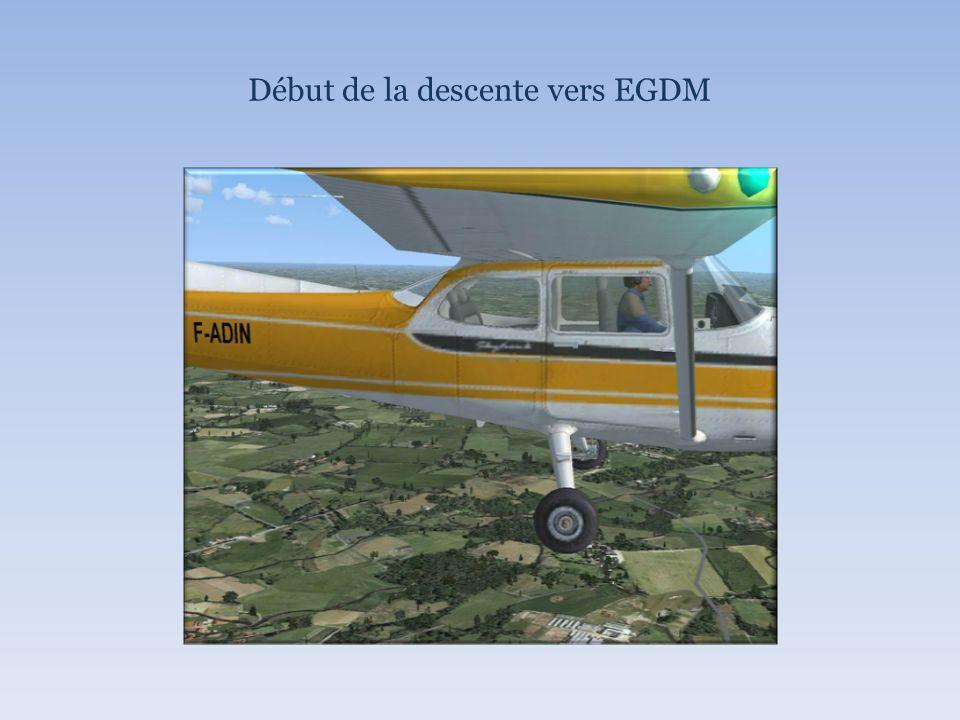 Début de la descente vers EGDM