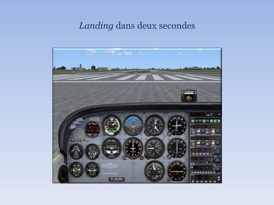 Landing dans deux secondes