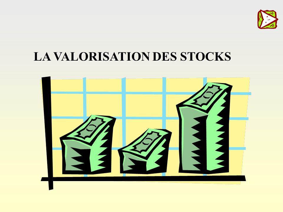 choix La valorisation des stocks Méthode C.U.M.P. Méthode P.E.P.S. Méthode D.E.P.S. Cadences de livraison La session de formation,La session de format