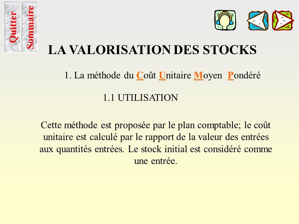 Les Cptes de stocks Sommaire LES COMPTES DE STOCKS SI – SF pour les matières, les marchandises et les approvisionnements SF – SI pour les produits La