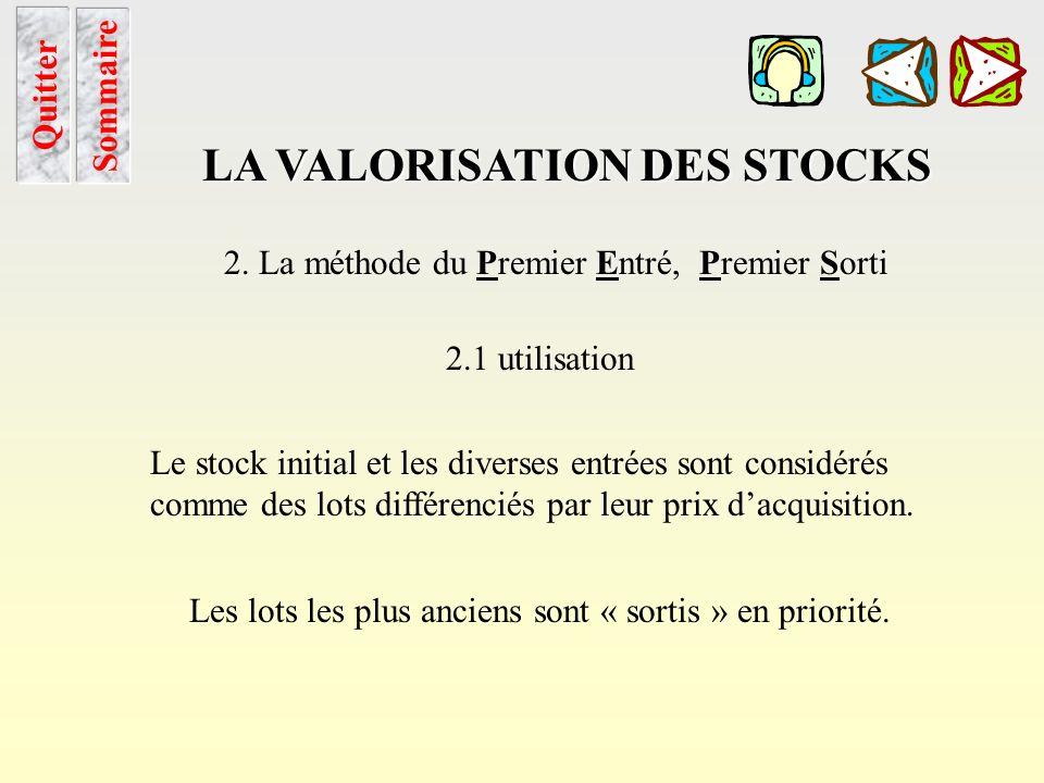 Application cump Sommaire Chapitre LA VALORISATION DES STOCKS 1. La méthode du Coût Unitaire Moyen Pondéré 1.3 application Cette méthode consiste à po