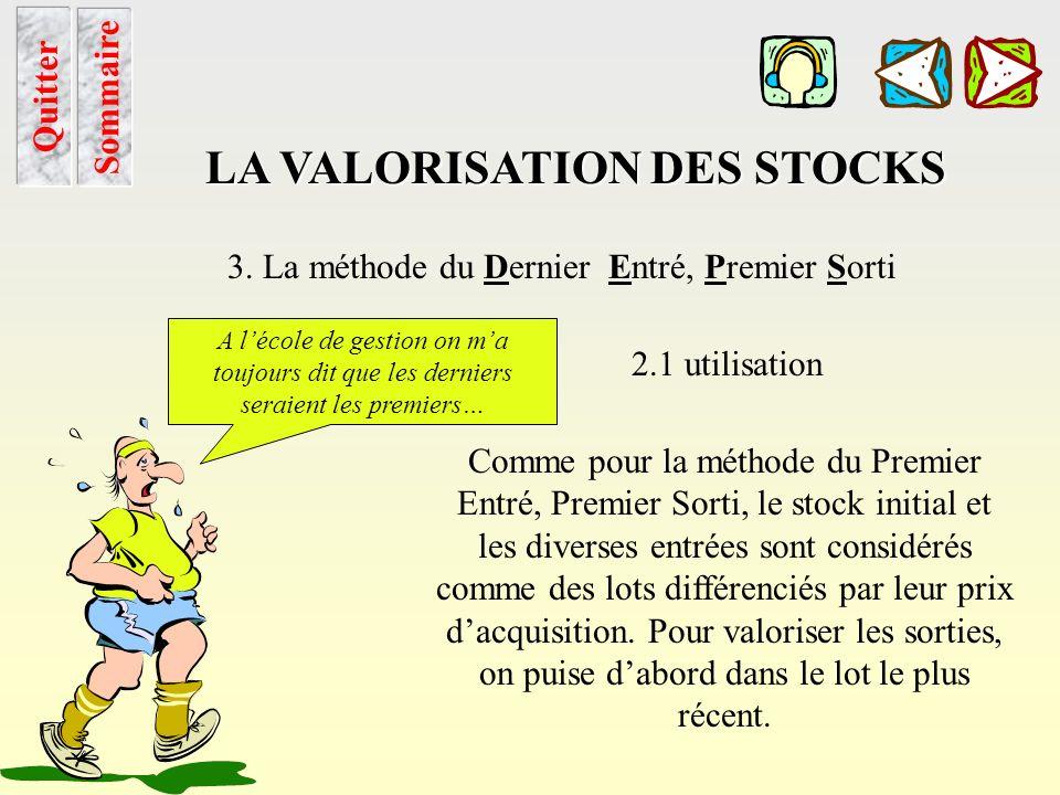 Peps calcul Sommaire LA VALORISATION DES STOCKS 2. La méthode du Premier Entré, Premier Sorti 2.2 méthode de calcul Voir application… Quitter Chapitre