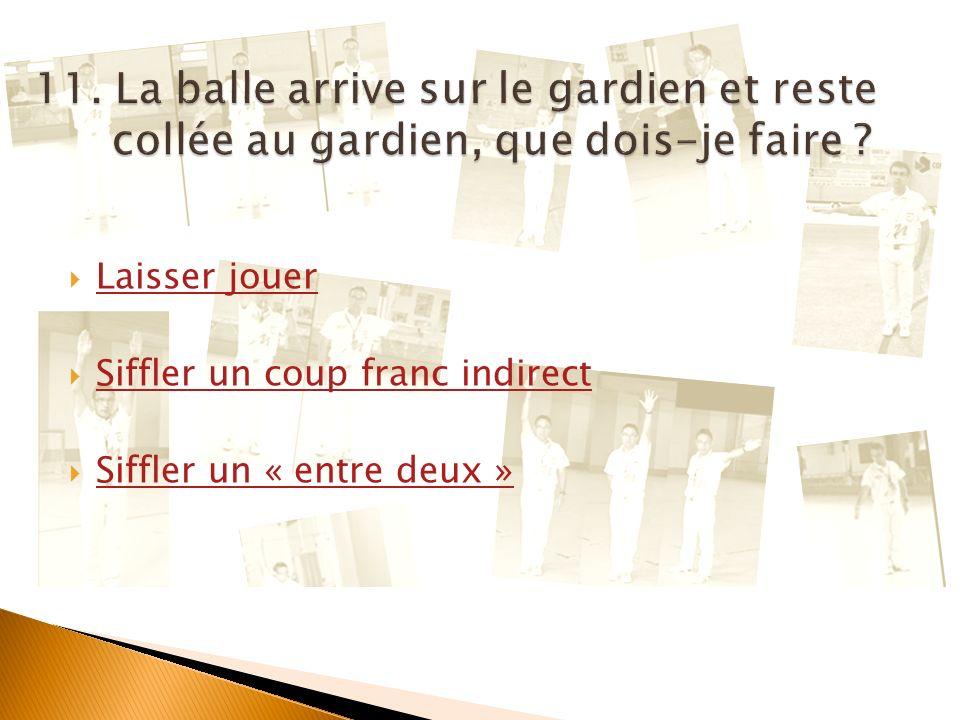 Question suivante Art. 27.3.6.1 : Dans le cas de fautes commises près de la balustrade ou lorsque la balle est sortie de la piste, il est permis de pl