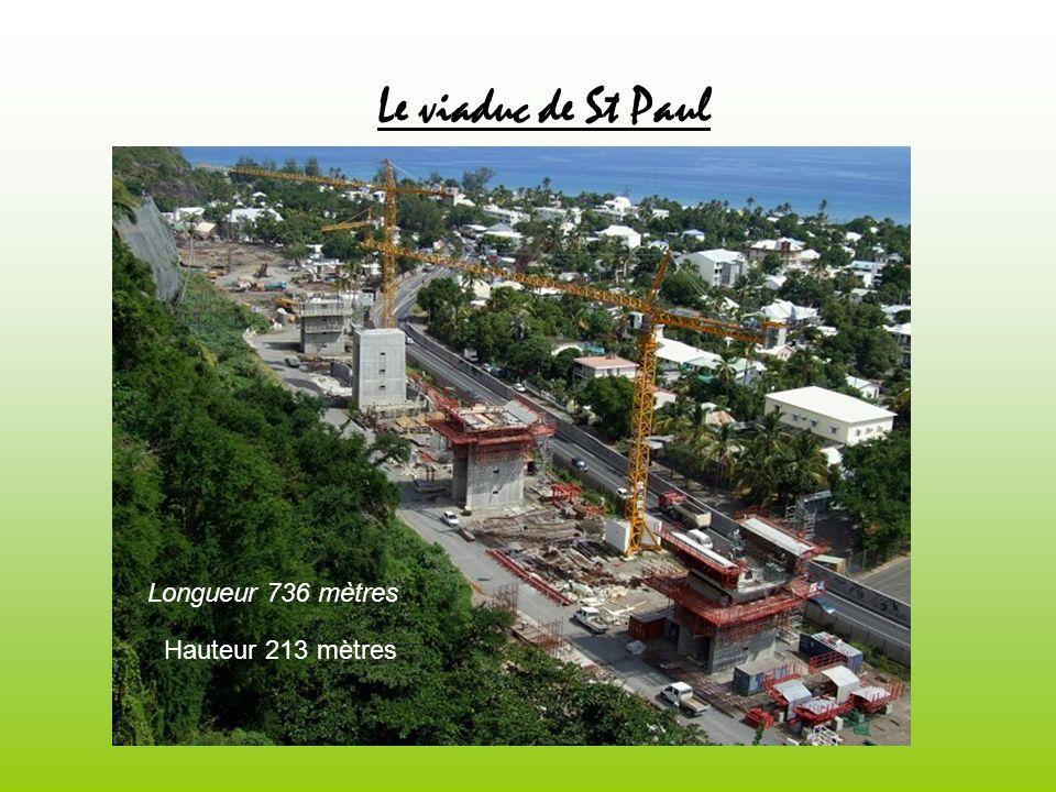 Le viaduc de St Paul Longueur 736 mètres Hauteur 213 mètres