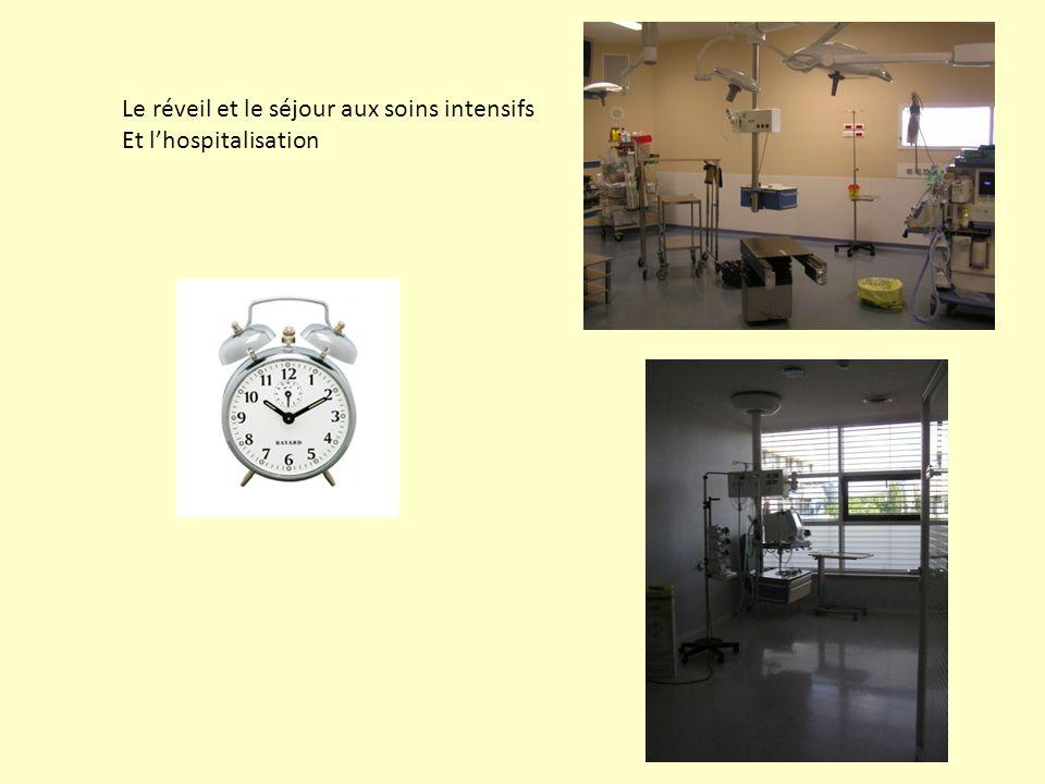 Le réveil et le séjour aux soins intensifs Et lhospitalisation