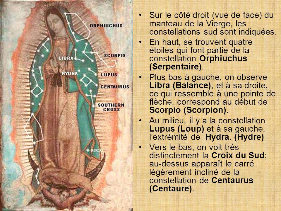 8. Les étoiles qui apparaissent sur le manteau de Marie reflètent la configuration et la position des constellations qui se trouvaient dans le ciel de