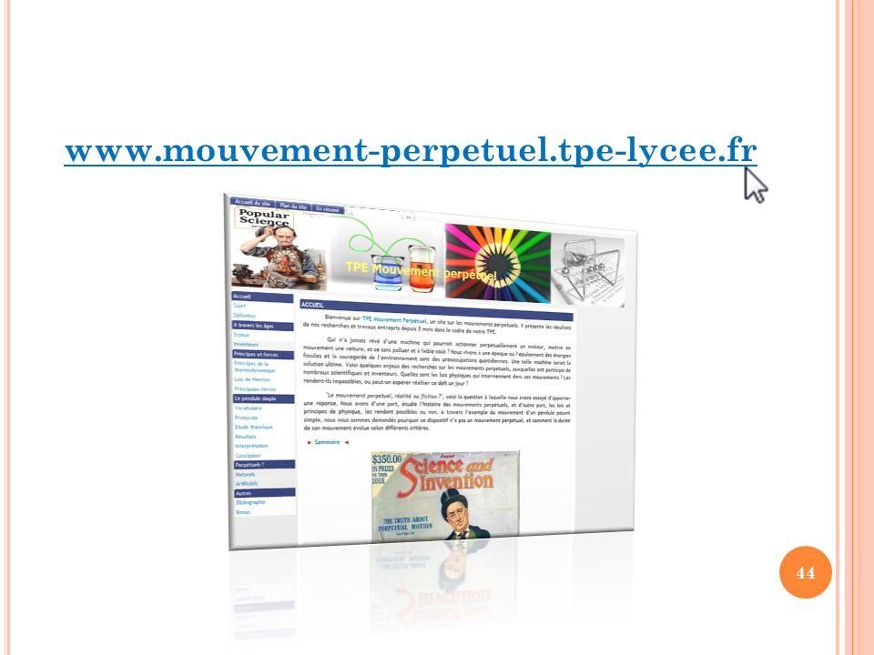 44 www.mouvement-perpetuel.tpe-lycee.fr