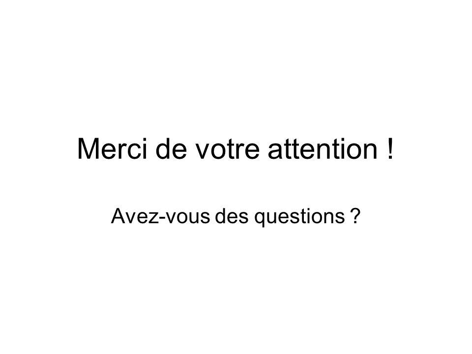 Merci de votre attention ! Avez-vous des questions ?