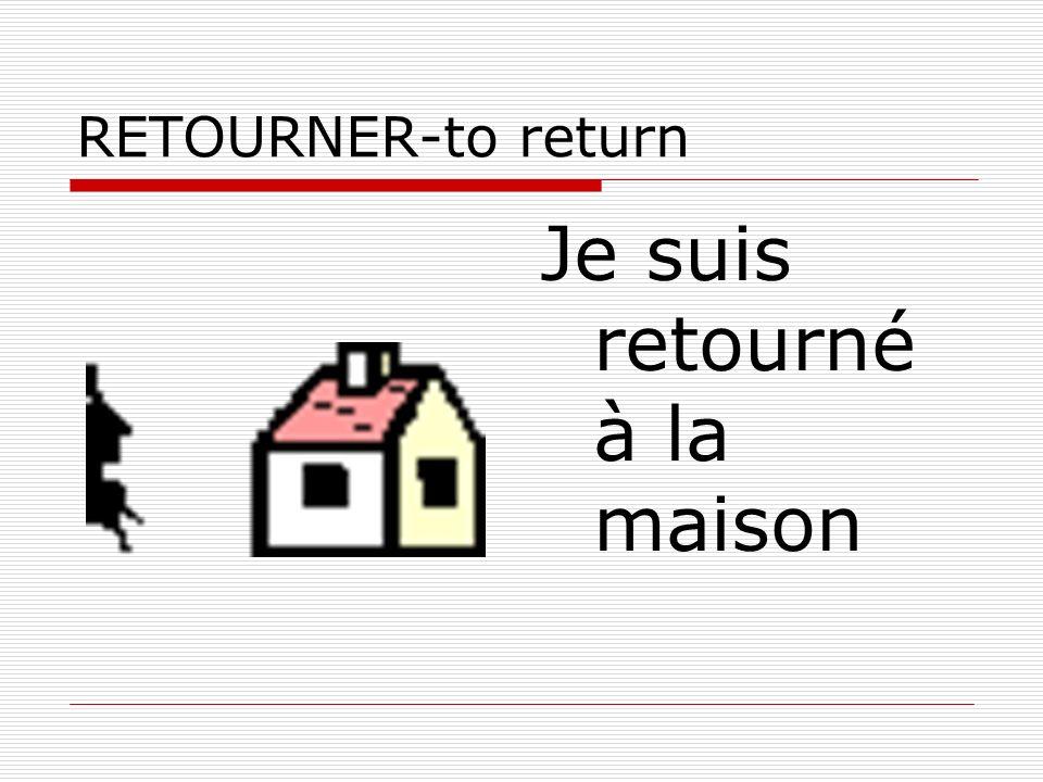 RETOURNER-to return Je suis retourné à la maison