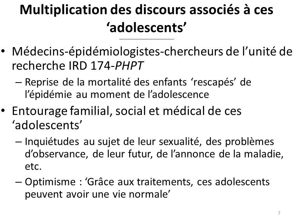 Emergence dune question de recherche Adolescence : source de tous les maux qui touchent les adolescents nés avec le VIH .