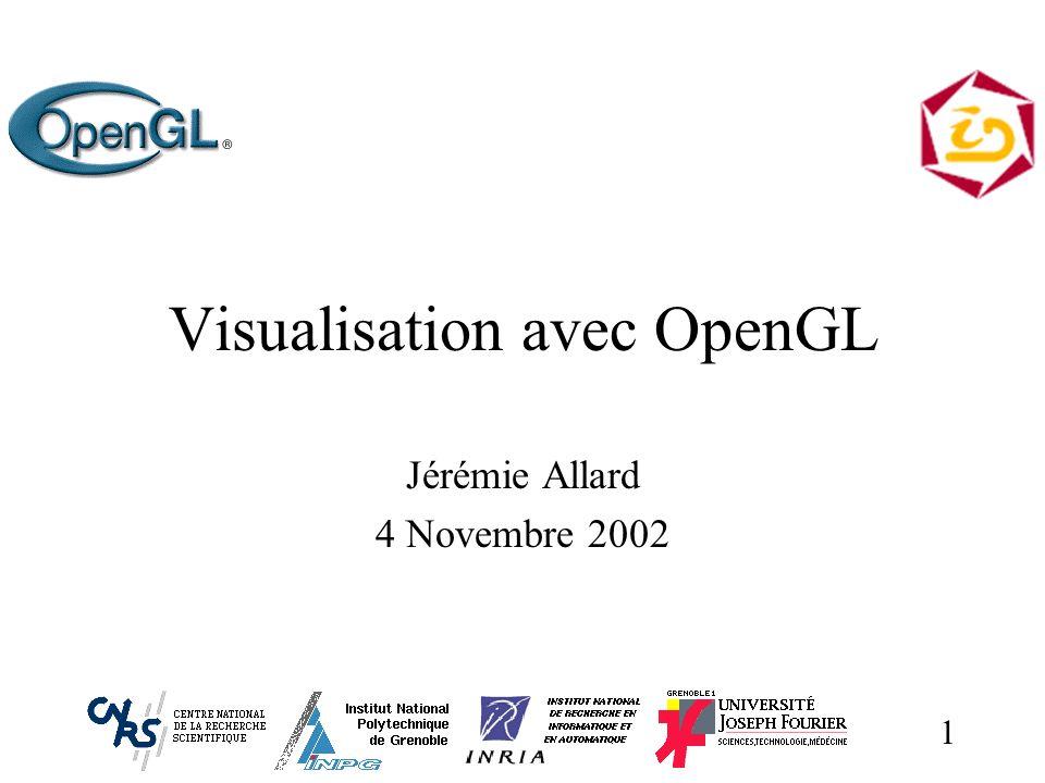 1 Visualisation avec OpenGL Jérémie Allard 4 Novembre 2002