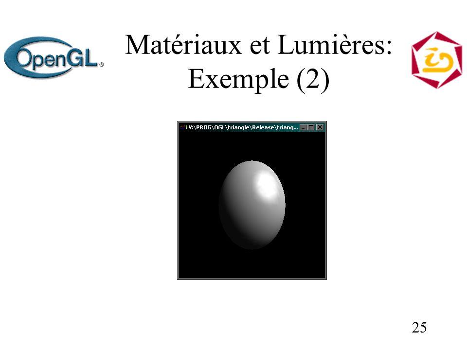 25 Matériaux et Lumières: Exemple (2)