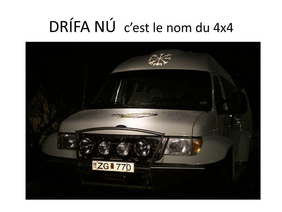 DRÍFA NÚ cest le nom du 4x4